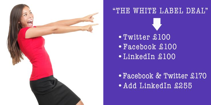 The White Label Deal..love what we do? Let us do it for you! LinkedIn page, Facebook page, TOP service Twitter community management. Front End Engagement with you clients will FUNNEL traffic to your business.