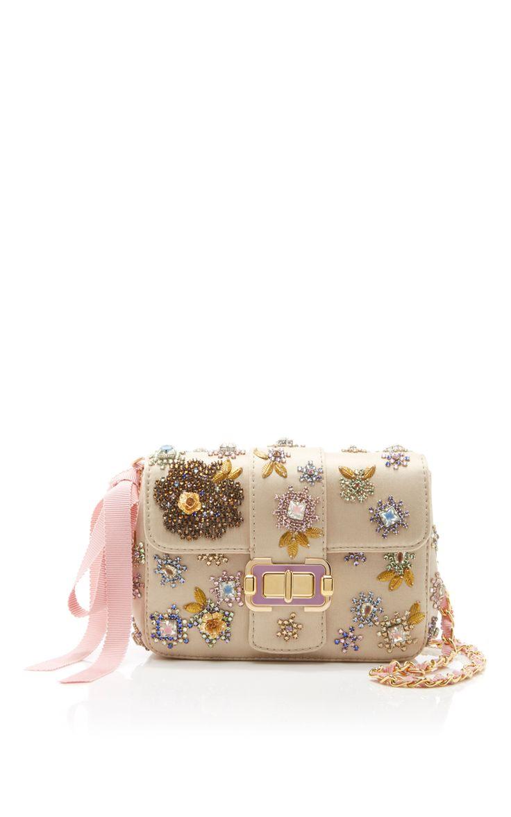 MONIQUE LHUILLIER Floral Small Bianca Shoulder Bag