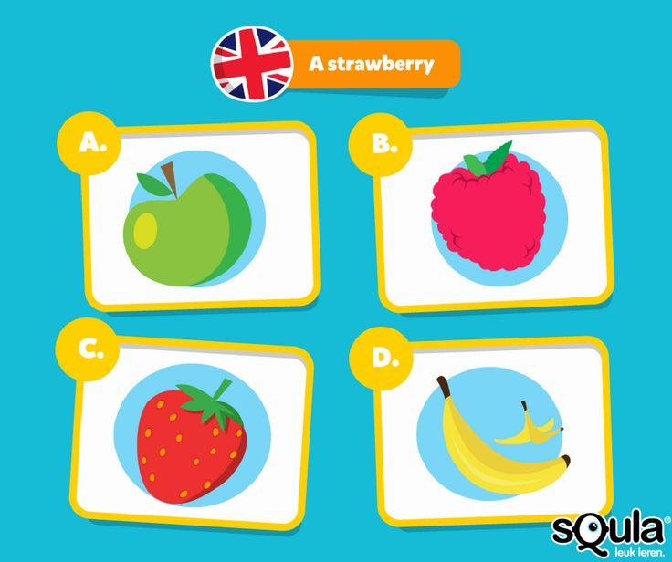 Test je eigen talenknobbel! Wat betekent 'a strawberry' in het Engels? Op Squla oefen je vanaf nu ook vreemde talen zoals Engels, Spaans, Duits, Frans en Italiaans.