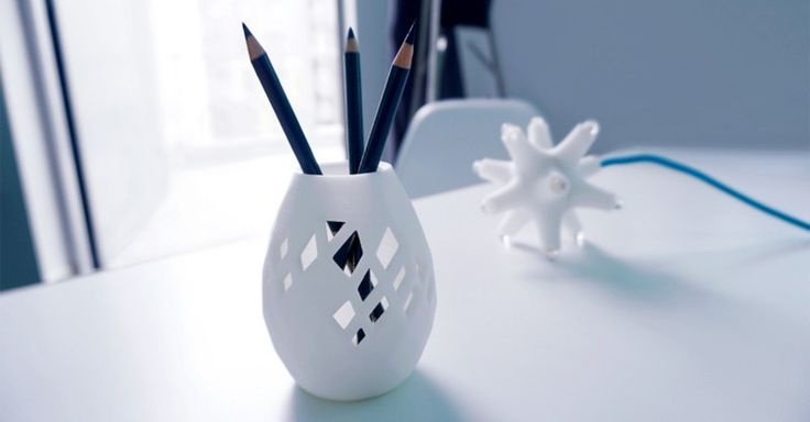 Decorating your home with unique 3D printed self-made designs is no longer a geek fantasy    3D printed vase created with VECTARY - the free, online 3D modeling tool    3D modeling, 3D printing, vase, diy vase, 3D model, decoration