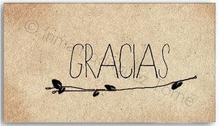 Tarjeta de agradecimiento / Thank you card