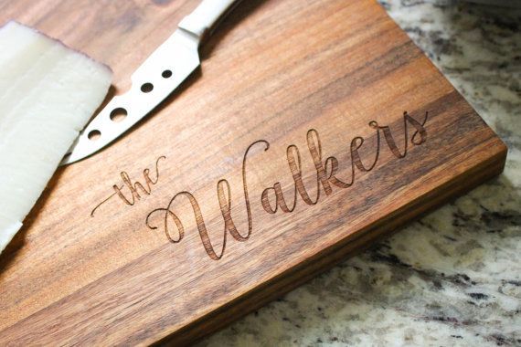 Personalized Cutting Board, Monogrammed Board, Custom Serving Platter, Engraved Cutting Board: Wedding Gift, Housewarming Gift, Mother's Day