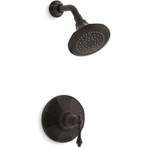 Kohler K-TS13493-4E Kelston Single Handle Shower Valve Trim Only with Metal Lever Handle and 2.0 GPM Single Function Shower Head (
