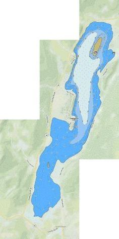 Cossayuna Lake Map | Cossayuna Lake (Fishing Map : US_NY_1103_0002)
