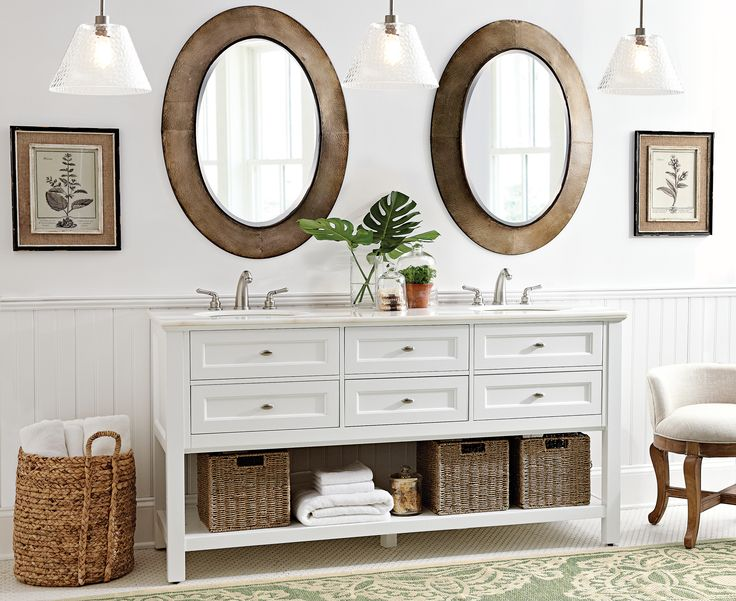 Home Decorators Collection Austell 67 In. W Double Bath Vanity In White  With Natural Marble Vanity Top In White