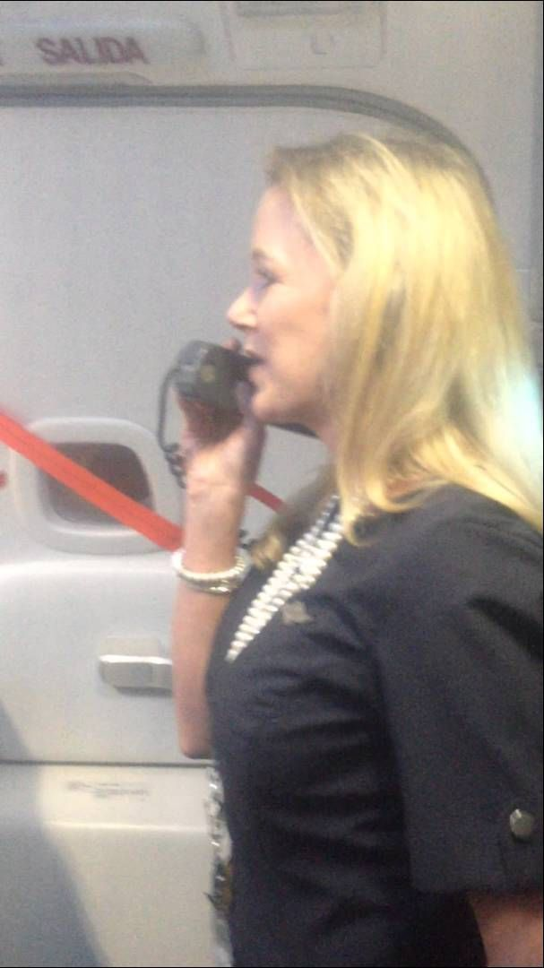 This is SOOOO funny! Will fly southwest just in the hopes of hearing this woman! This woman is AMAZING.