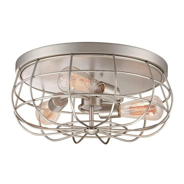 Millennium Lighting Neo Industrial 155 In W Satin Nickel Ceiling Flush Mount Light 5323Sn