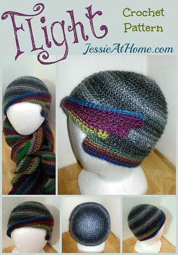 Flight Hat Free Crochet Pattern by Jessie At Home
