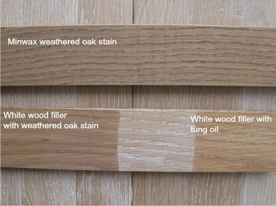 Minwax Weathered Oak With And Without White Wood Filler