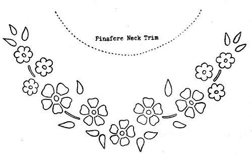 Pinafore Embroidery Pattern Part 2: Yoke Embroidery