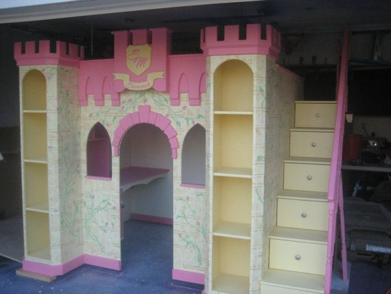Children's Furniture Princess Castle Bed by Allstarsports on Etsy, $5000.00