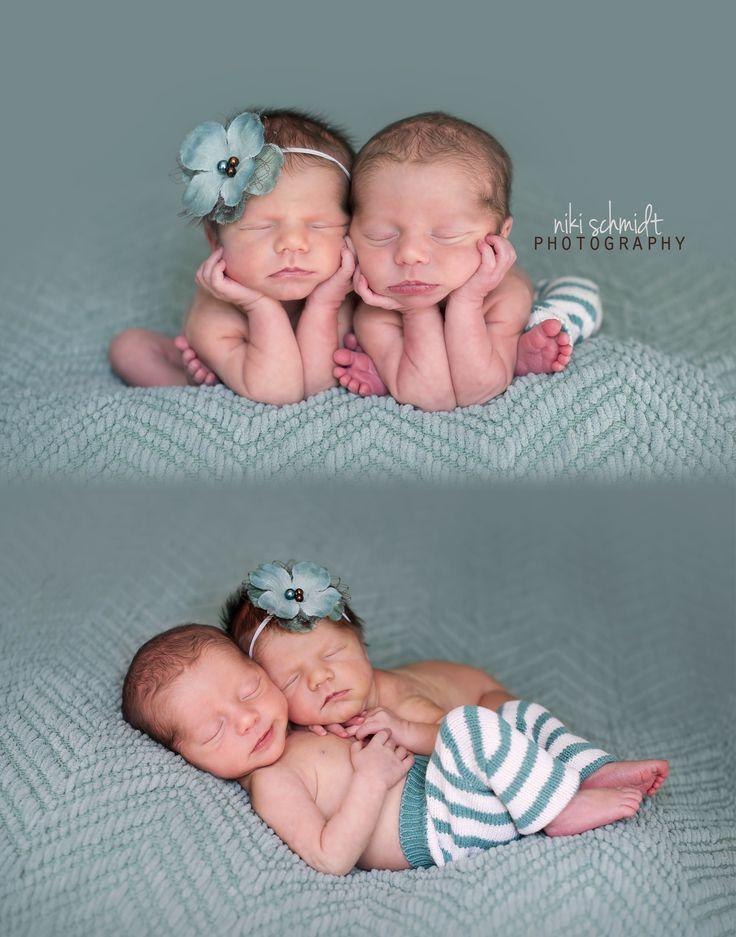 Newborn Twin Photography by Niki Schmidt Photography / Tampa, Florida Newborn Photographer www.NikiSchmidtPhotography.com
