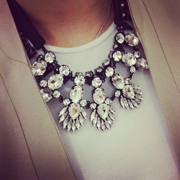Necklace.Fashion, Statement Necklaces, Little Black Dresses, Accessories, Men Wear, Diamonds Necklaces, Chunky Necklaces, Bibs Necklaces, Bling Bling