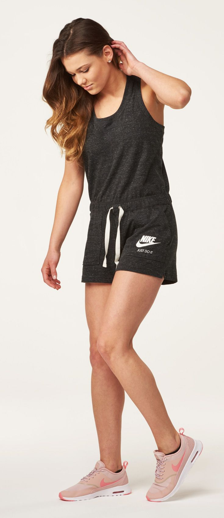 This Nike Gym Vintage racer back romper is the perfect fit in your summer wardrobe.
