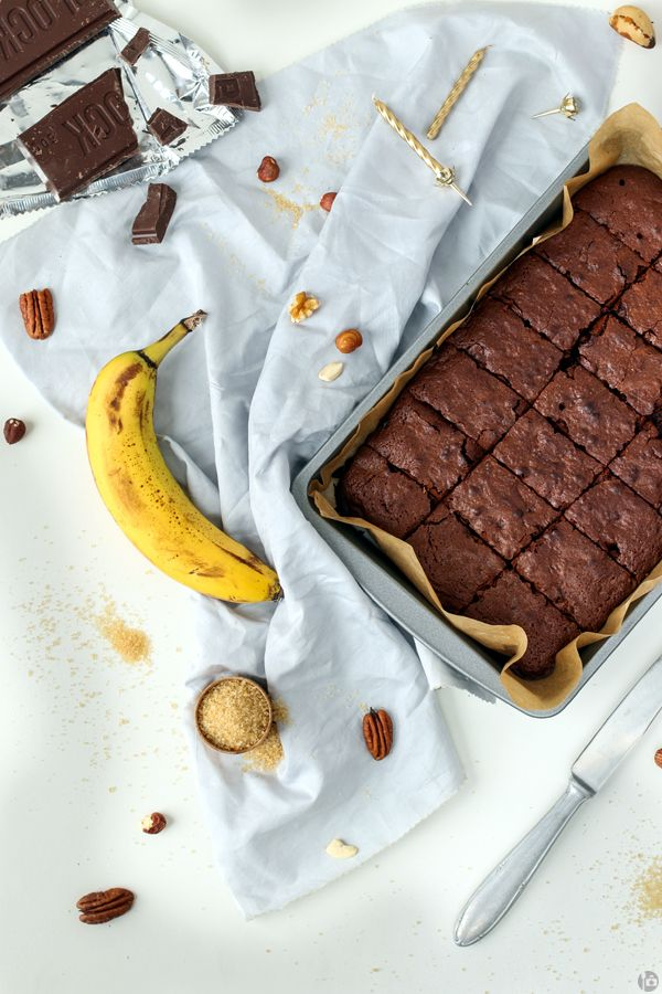Banana Nut Brownies | A Spoonful of Photography