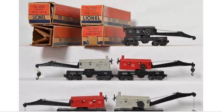Lionel Crane Cars Postwar