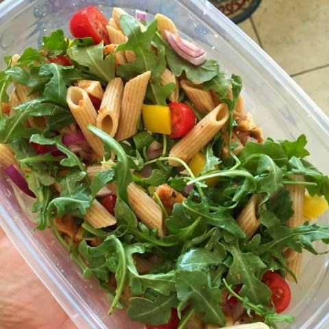 Advocare 24 day challenge recipes. Clean eating Arugula and pasta salad with chicken