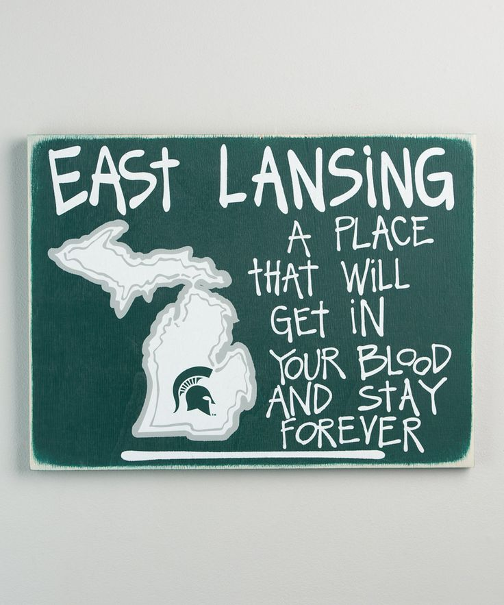 Look at this Michigan State Spartans Map Wall Sign on #zulily today!