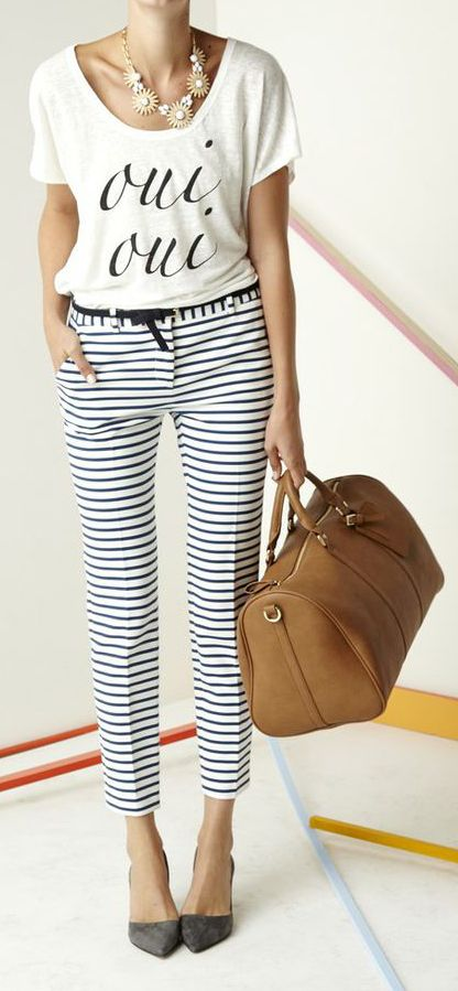 Let's talk about those striped pants!