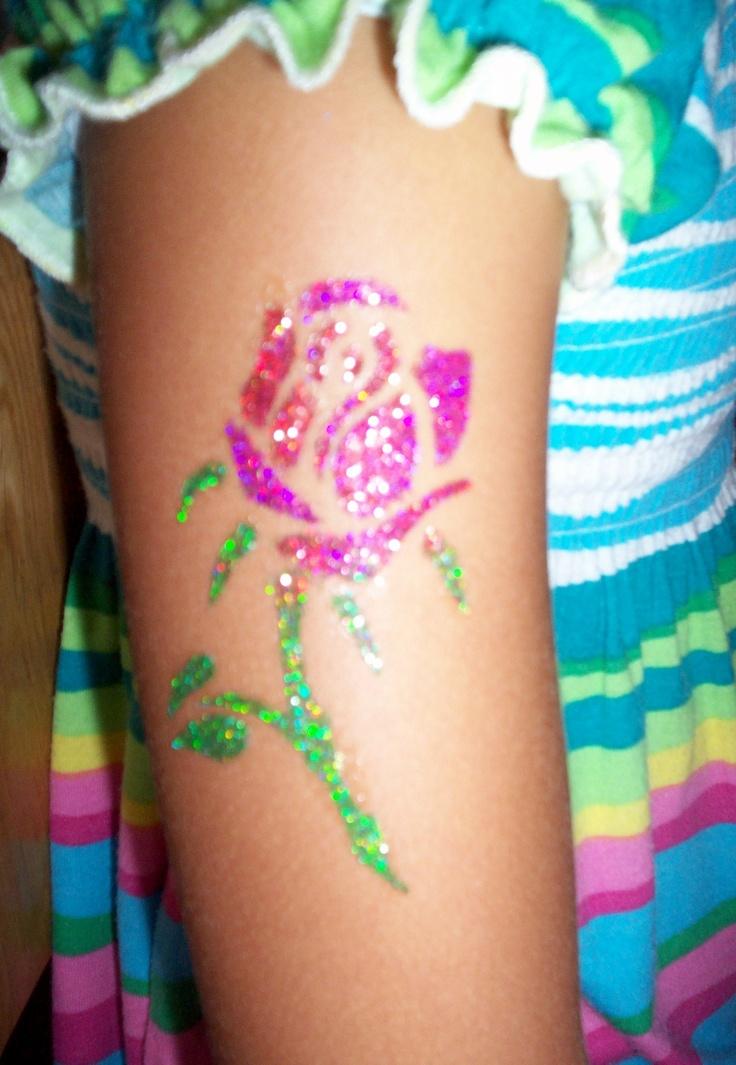 "Temporary glitter tattoo "" Rosa "". By : #Animagias #tattoo #glitter"