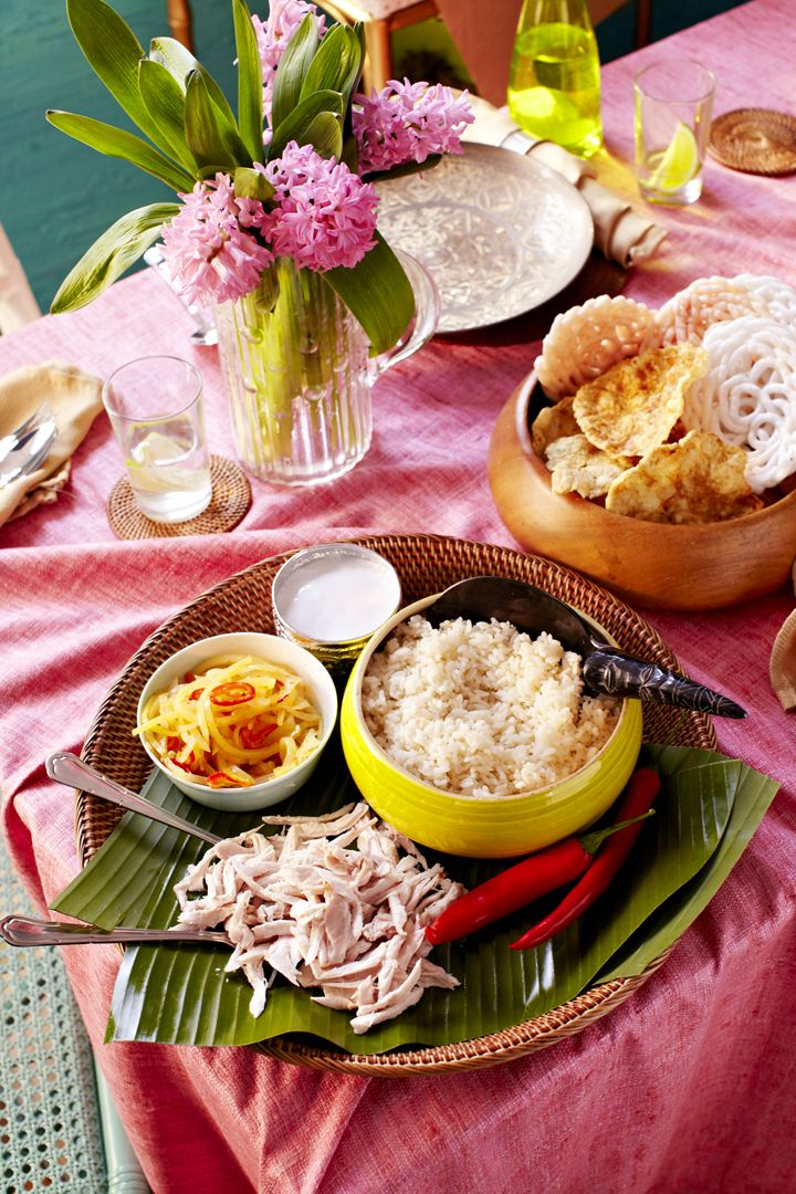Fragrant Rice with Side Dishes (Nasi Liwet Komplit)