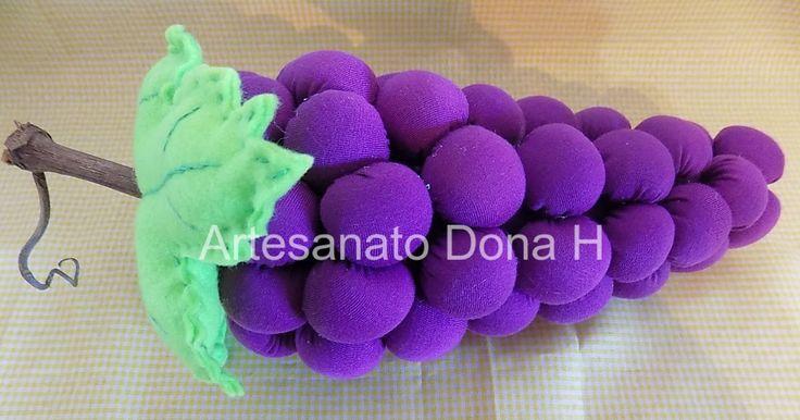 Artesanato Dona H: Fruta em Tecido Com Molde - Cacho de Uva.