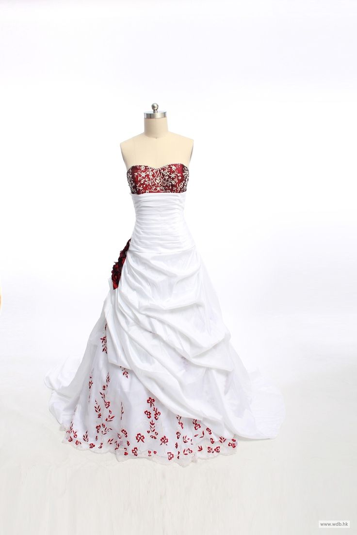 wedding photos Gorgeous sweetheart A-line chapel train bridal gowns $328.98
