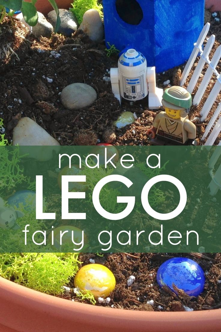 easy lego fairy garden for kids