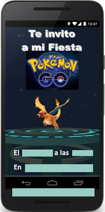 Ideas, decoración y manualidades para fiestas: Ideas para las Invitaciones de tu fiesta Pokemon go