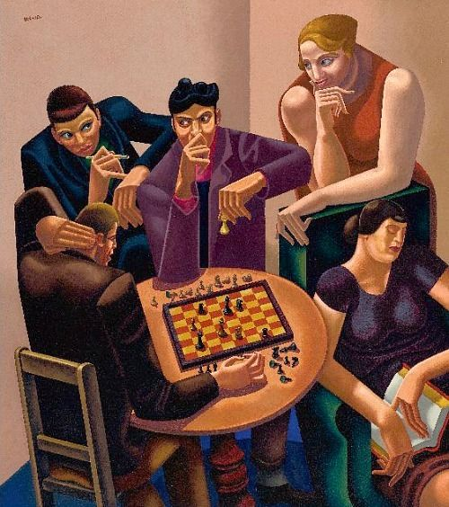 Roberts, William, (1895-1980), The Chess Players, 1930