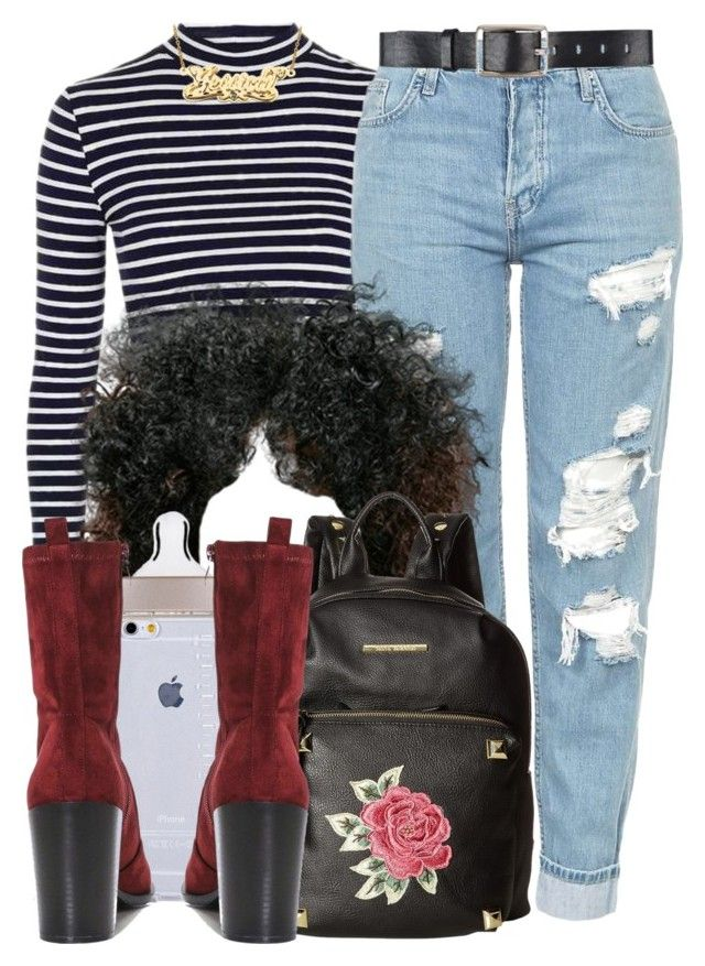 """""""12 21 16"""" by miizz-starburst ❤ liked on Polyvore featuring Topshop, Belstaff, Steve Madden and Boohoo"""