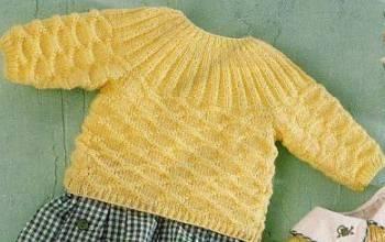 Детские свитера на спицах фото