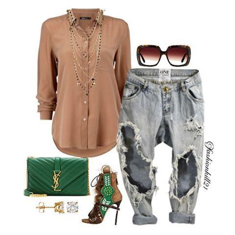 DETAILS: Necklace #Chanel Purse #Ysl Earrings #Foreverbrilliant  Fur Booties #Dsquared2 Sunglasses #Bartonperreira Jeans #Oneteaspoon #Styledbyfashionkill21