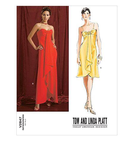 Dress Patterns Vogue Designer