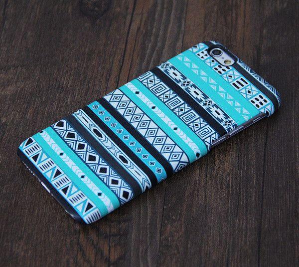 Turquoise Azte iPhone 6 Plus 6 5S 5C 5 4 Protective Case – Acyc