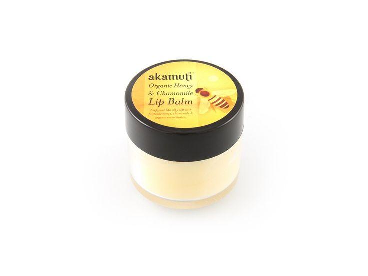 Akamuti medové máslo na rty s heřmánkem