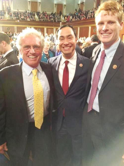 Joseph P. Kennedy II with two rising political stars of the Democratic Party: Joe Kennedy II and rep. Joaquin Castro of Texas. ♡❤❤❤♡❤♡❤❤❤♡ http://en.wikipedia.org/wiki/Joseph_P._Kennedy_III http://en.wikipedia.org/wiki/Joseph_P._Kennedy_II