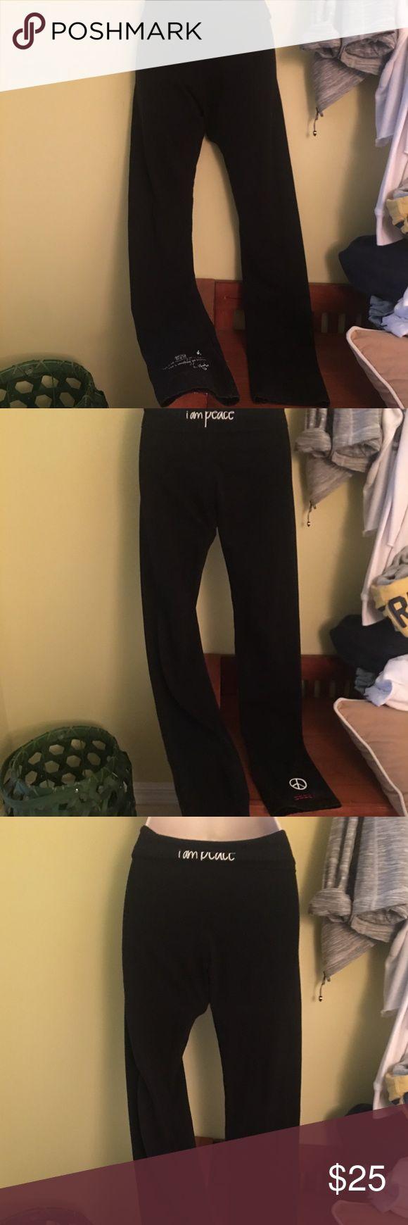 Peace Love World yoga pants black XS Peace Love World yoga pants black XS cotton spandex tag taken off on inside auth Peace Love World Pants Track Pants & Joggers