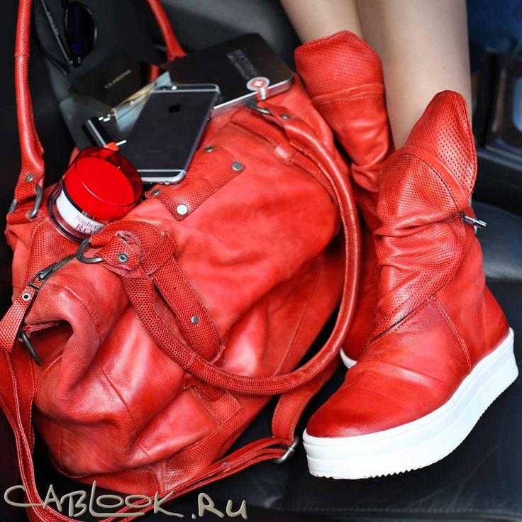 Кеды красные женские NIRVANA 1653 купить в интернет-магазине креативной обуви КАБЛУК.РУ