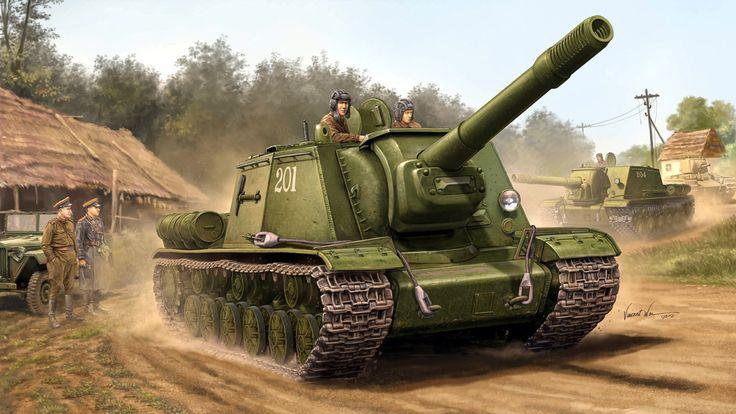 ISU-152.  Click on image to ENLARGE.