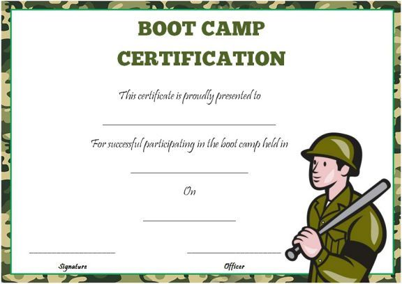 11 best boot camp certificate template images on pinterest boot camp certificate template pronofoot35fo Choice Image