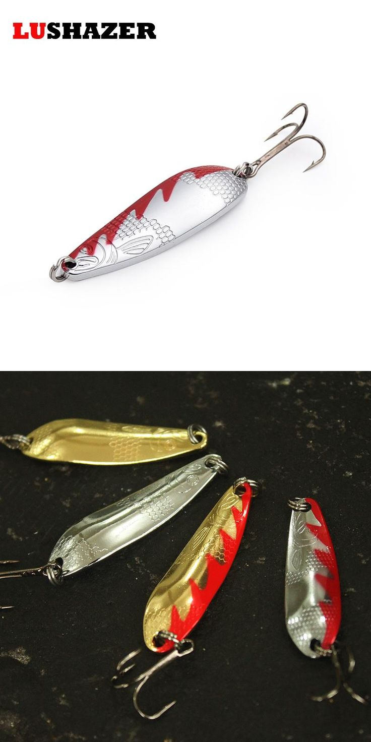 [Visit to Buy] Fishing spoon Lure 7g 10g 14g spoon bait fishing hard lure metal lures catfish lure fishing bait free shipping #Advertisement