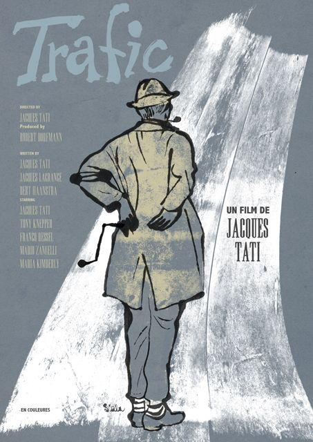 Movie Poster of the Day — Fan poster art for TRAFIC (Jacques Tati, France,...