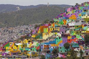 Prachtig project: arme Mexicanen krijgen weer kleur in hun leven dankzij muurschildering | Buitenland | De Morgen