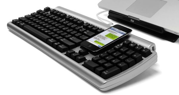 This keyboard isn't just for your computer. It connects to your iPhone, allowing you to text, tweet, (and Pin) with lightning speed.