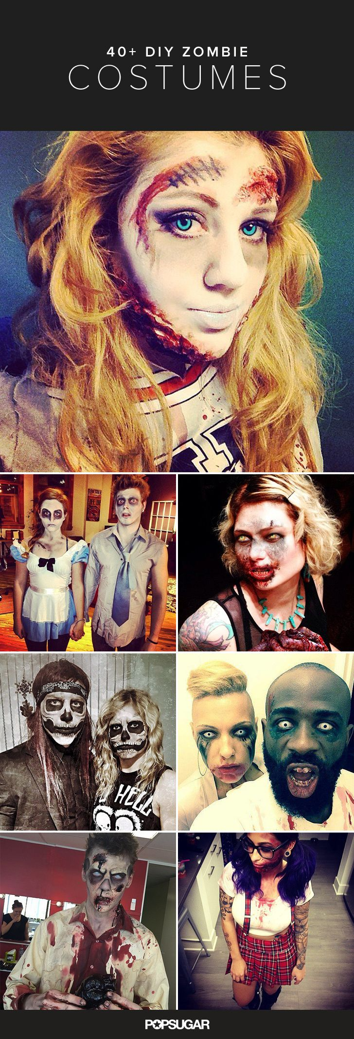43 Halloween DIY Zombie Costumes That Are Completely Petrifying