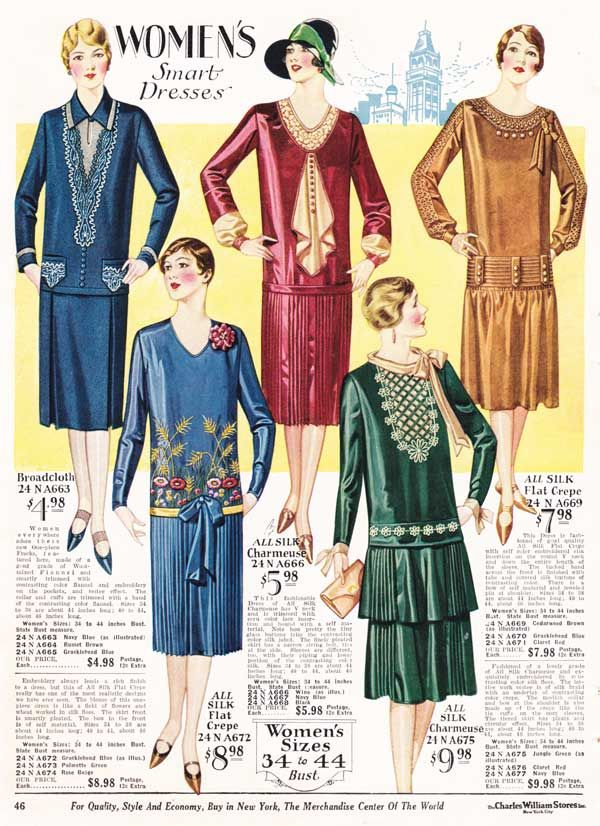 Women 39 S Dresses From A 1928 Catalog Vintage 1920s Fashion 1920s Women 39 S Fashion