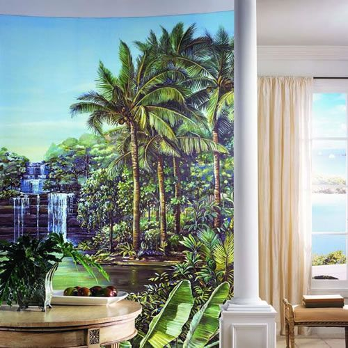 Un fototapet care aduce in propria locuinta, atmosfera tropicala a unei oaze de liniste si armonie!  Catre #fototapet: http://tinyurl.com/o623rbd    #tapet, #tapetpalmieri, #tapettropical
