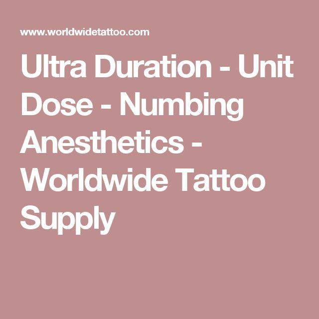 Ultra Duration - Unit Dose - Numbing Anesthetics - Worldwide Tattoo Supply