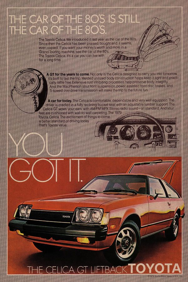 Vintage Toyota Celica Car Poster By Design Turnpike In 2020 Toyota Celica Car Posters Toyota